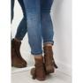 Barna női cipő 4169 Khaki kép 4