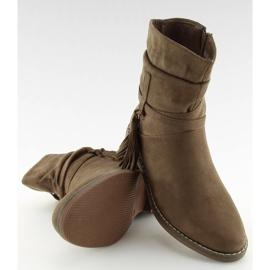 Barna női cipő 4169 Khaki 8