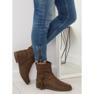 Barna női cipő 4169 Khaki kép 5