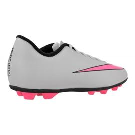 Nike Mercurial Vortex Ii FG-R Jr 651642-060 futballcipő fehér szürke 2