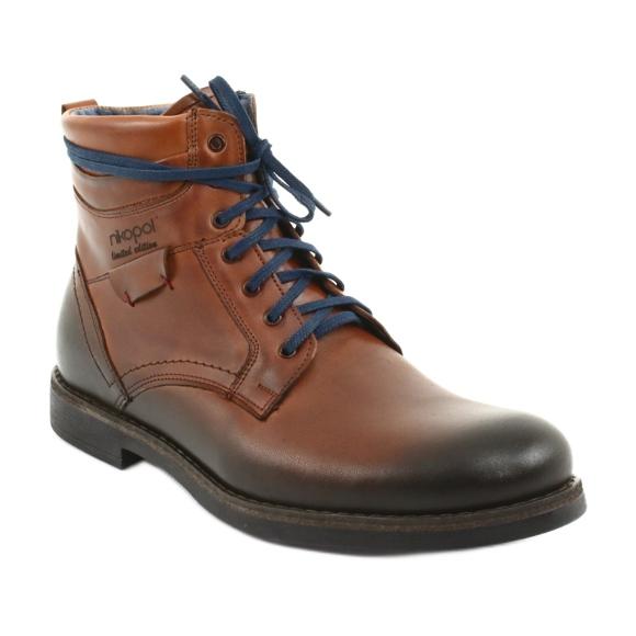 elérhető temperamentum cipő szuper népszerű Nikopol 700 cipzáros barna csizma - ButyModne.pl