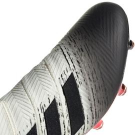 Nike Adidas Nemeziz 18+ Fg M BB9419 futballcipő fehér fehér, szürke / ezüst 2