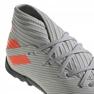 Adidas Nemeziz 19.3 Tf Jr EF8303 futballcipő szürke narancssárga, szürke / ezüst 4
