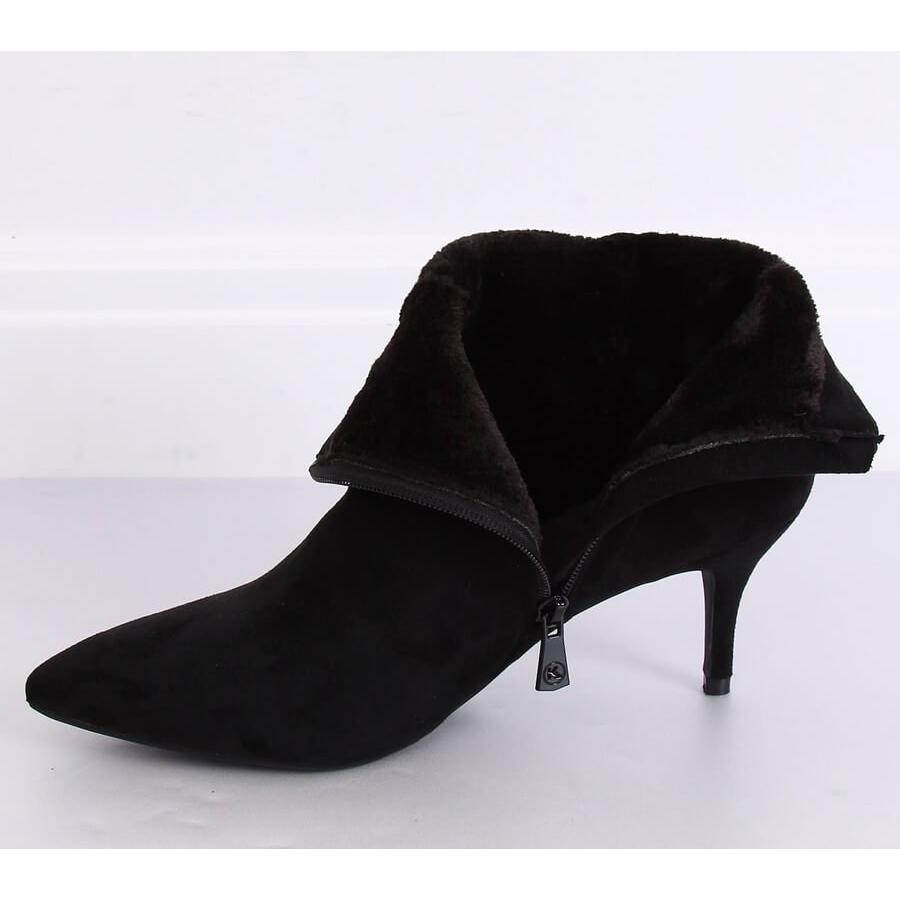 Fekete csizma alacsony sarkú fekete K1906806 Negro
