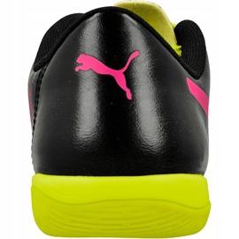 Puma evoPOWER 4.3 trükkös beltéri cipőt fekete fekete, sárga, rózsaszín 3
