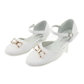 Udvariasságú ballerinas Komló Miko 707 fehér 3
