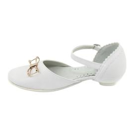 Udvariasságú ballerinas Komló Miko 707 fehér 2
