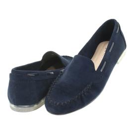Női velúr cipő, Sergio Leone 722 sötétkék haditengerészet 4