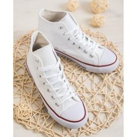 Super Me Magas cipők fehér 2