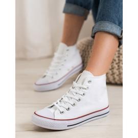 Super Me Magas cipők fehér 5