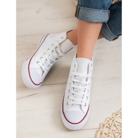 Super Me Magas cipők fehér 4