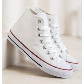 Super Me Magas cipők fehér 3