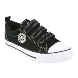 American Club Amerikai gyermek cipők tépőzáras LH33-tal fehér fekete 1