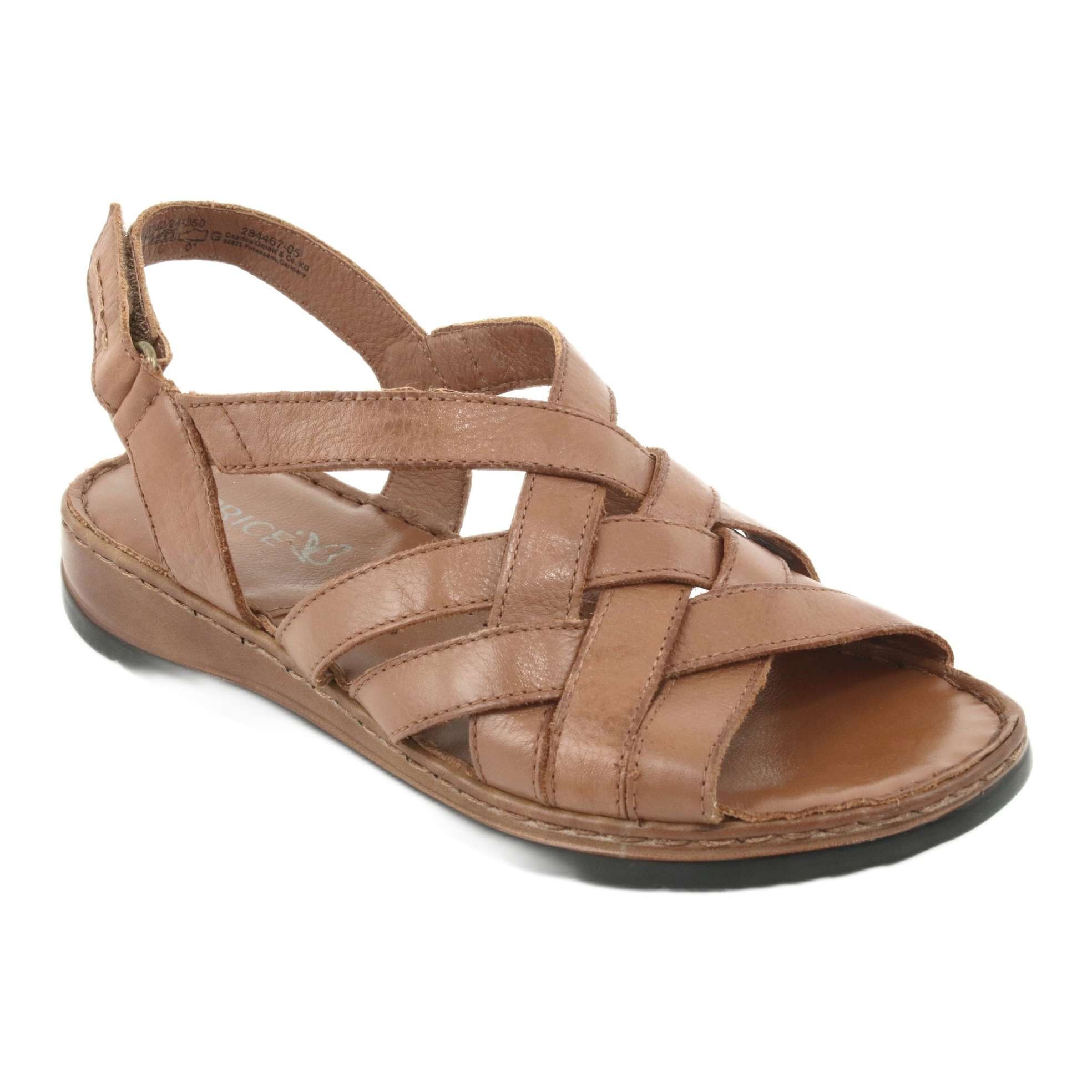 Caprice szandál női barna bőr cipő ButyModne.pl
