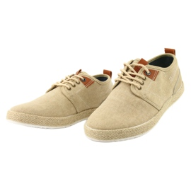 Espadrilles férfi cipőfűző Big Star FF174153 barna 2