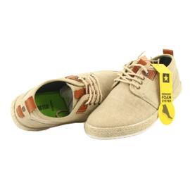Espadrilles férfi cipőfűző Big Star FF174153 barna 6