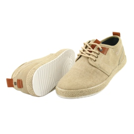 Espadrilles férfi cipőfűző Big Star FF174153 barna 4