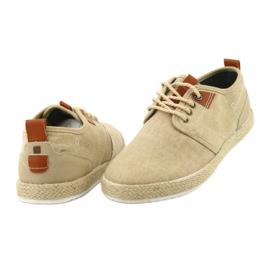 Espadrilles férfi cipőfűző Big Star FF174153 barna 3