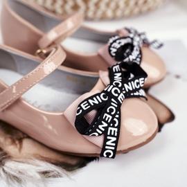 S.Barski Bar Bézs Mindi Velcro gyermek balerinák 4
