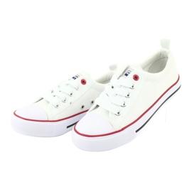 American Club Fehér amerikai LH25 csomós cipők 4