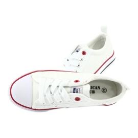 American Club Fehér amerikai LH25 csomós cipők 6