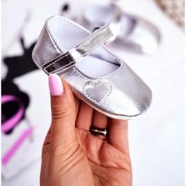 Apawwa Keresztelő baba tépőzáras cipők Bellawa ezüst szürke 1