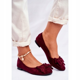 SEA Jordos női balerina cipő piros 2