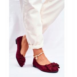 SEA Jordos női balerina cipő piros 3