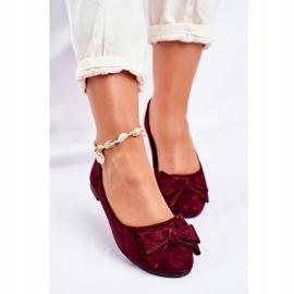 SEA Jordos női balerina cipő piros 4