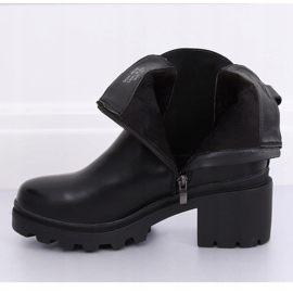 Fekete Jodhpur fekete csizma HE107 Fekete 5