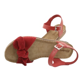 Comfort Inblu női cipő 158D117 piros 5