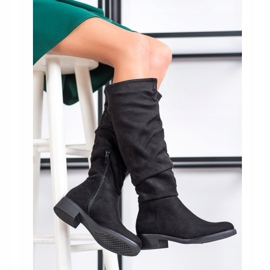 Sweet Shoes Suede csizma fekete 1
