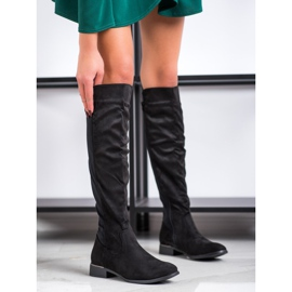 Anesia Paris Magas sarkú cipő fekete 1