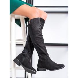 Anesia Paris Magas sarkú cipő fekete 2