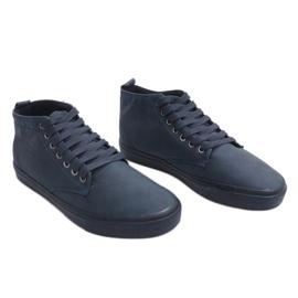 Stílusos, magas szárú cipők Y007 sötétkék haditengerészet 2