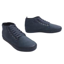 Stílusos, magas szárú cipők Y007 sötétkék haditengerészet 3