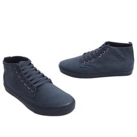 Stílusos, magas szárú cipők Y007 sötétkék haditengerészet 4