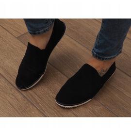Lycra D16M fekete csúsztatható cipők 1