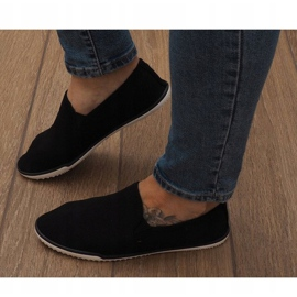 Lycra D16M fekete csúsztatható cipők 2