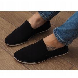 Lycra D16M fekete csúsztatható cipők 3