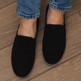 Lycra D16M fekete csúsztatható cipők 4