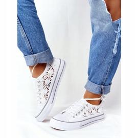 FB2 Női fehér Candice csipke cipők 4
