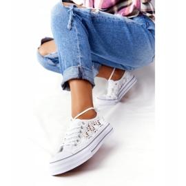 FB2 Női fehér Candice csipke cipők 1