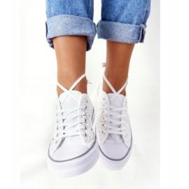 FB2 Női fehér Candice csipke cipők 5