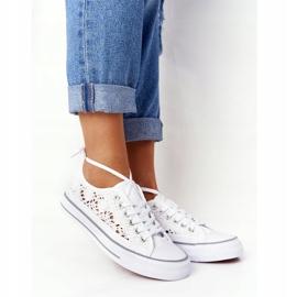 FB2 Női fehér Candice csipke cipők 6