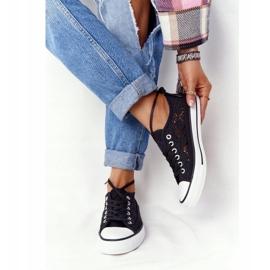 FB2 Női fekete csipke Candice tornacipő 1