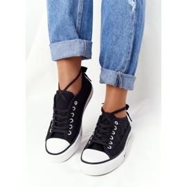 FB2 Női fekete csipke Candice tornacipő 2