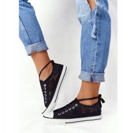 FB2 Női fekete csipke Candice tornacipő 6