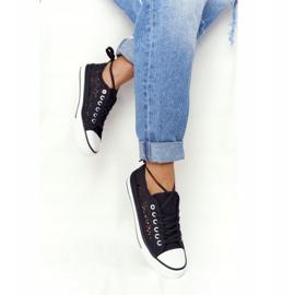 FB2 Női fekete csipke Candice tornacipő 3
