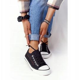 FB2 Női fekete csipke Candice tornacipő 4